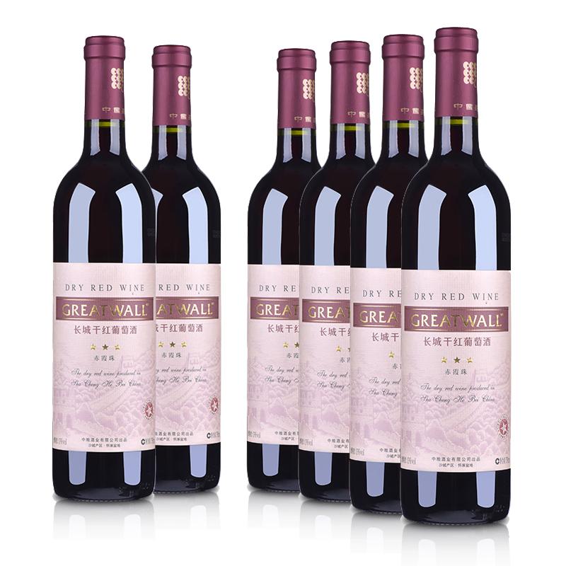 中国长城沙城三星干红葡萄酒(6瓶装)