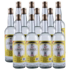52°台湾阿里山高粱酒600ml(12瓶装)