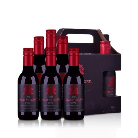 【夜市】澳大利亚米隆庄园王子系列色拉子红葡萄酒187ml 6支礼盒装