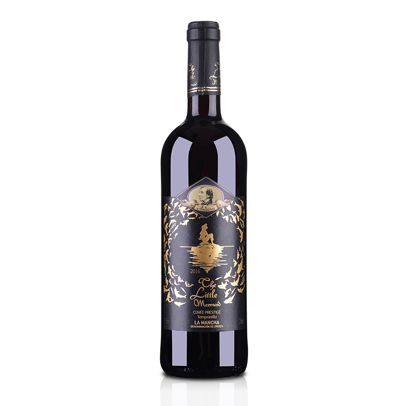 【包邮】西班牙DO级安徒生美人鱼干红葡萄酒750ml