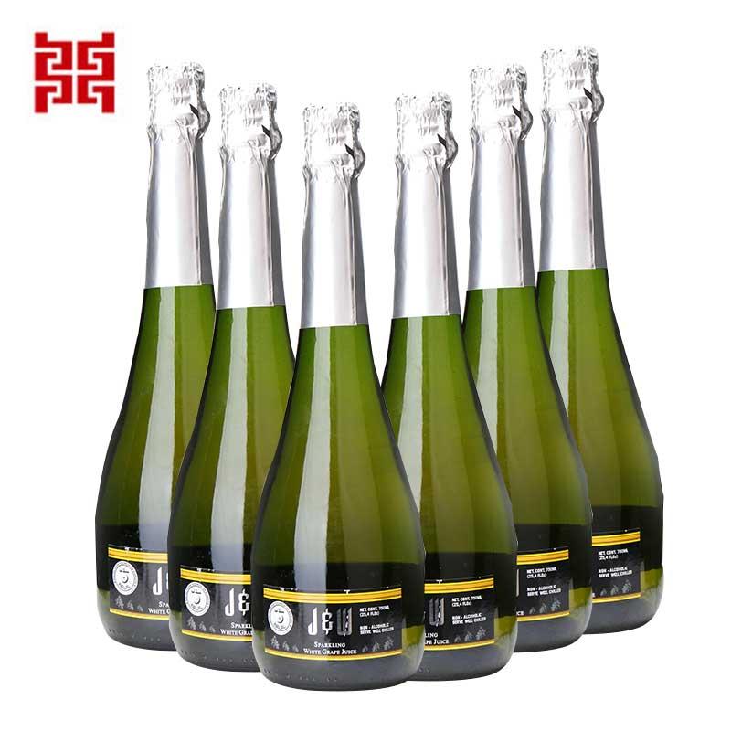 进口洋酒 西班牙艾槟青葡萄汁饮料(充气型) 无酒精饮料 6支装