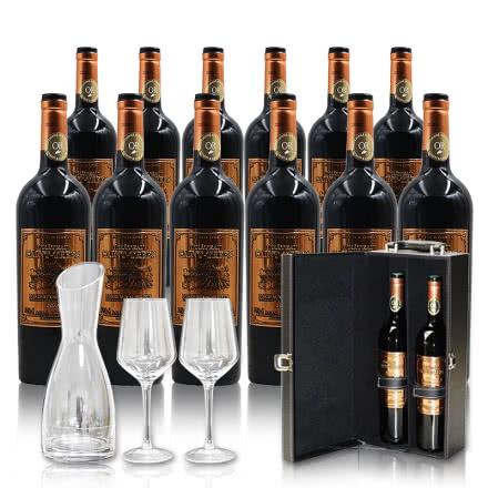 法国进口超级波尔多干红葡萄酒750ml(12瓶装)