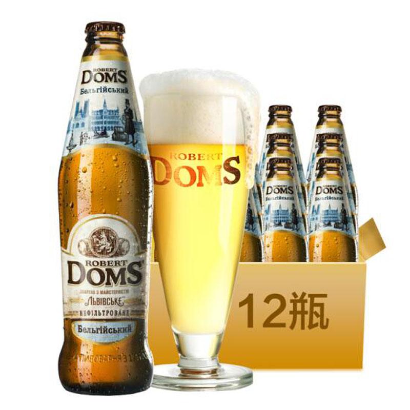 乌克兰进口啤酒多玛斯白啤酒500ml(12瓶装)