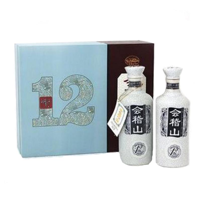 会稽山绍兴黄酒礼盒双瓶十二年陈花雕加饭酒绍兴特产500ml*2
