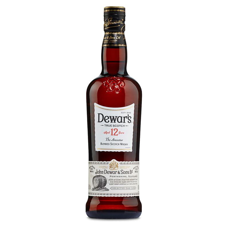 40°英国帝王(Dewar's)12年调配苏格兰威士忌进口洋酒700ml