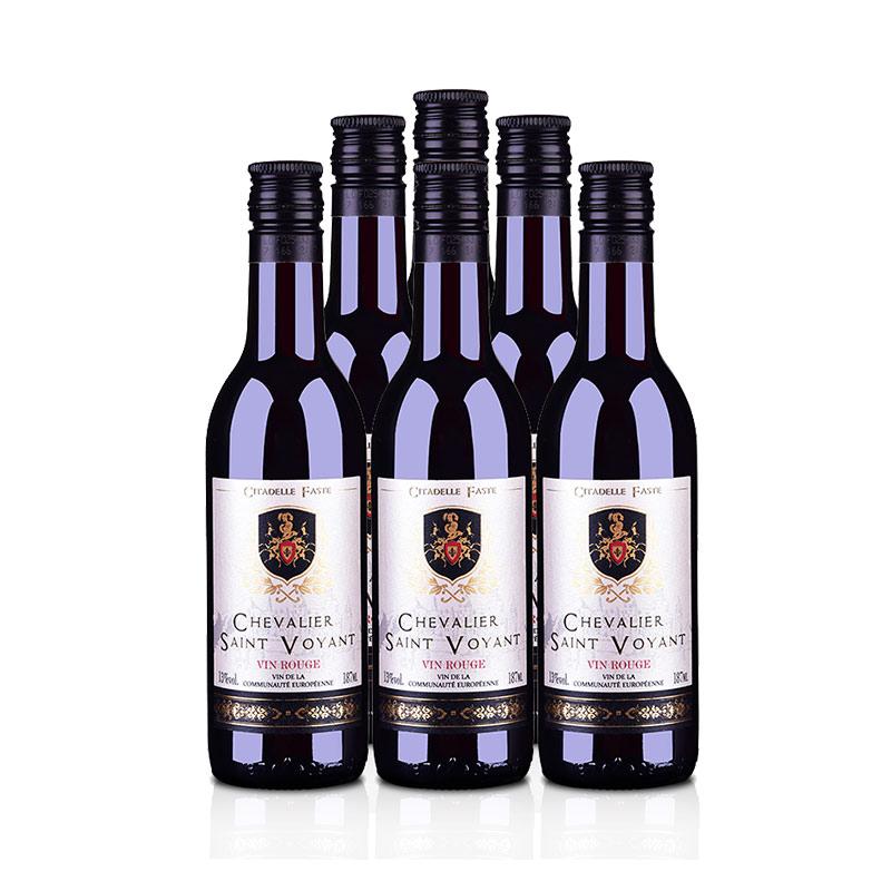 法国法圣古堡圣威骑士干红葡萄酒187ml(6瓶装)