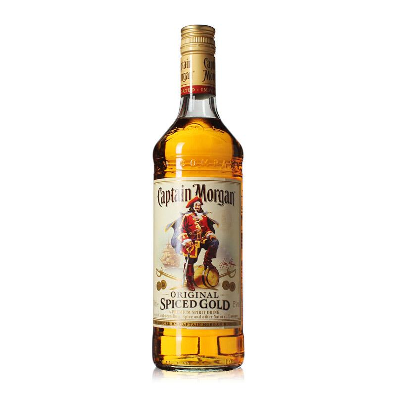 40°英国摩根船长(Captain Morgan)金朗姆酒配制鸡尾酒基酒进口洋酒700ml