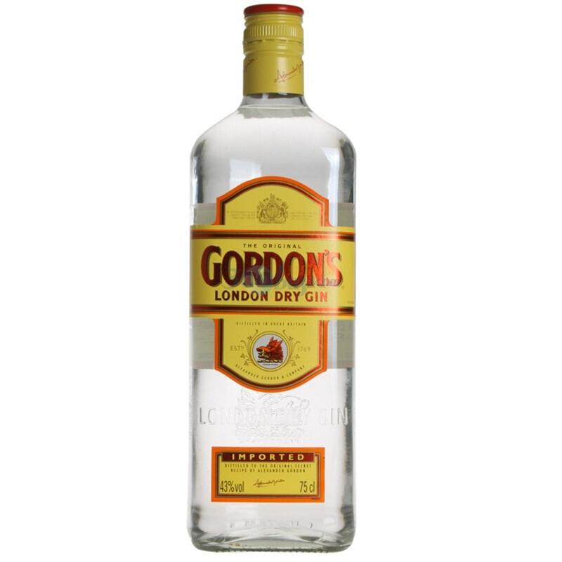 43°英国哥顿金酒(Gordon's)干味伦敦金酒 杜松子酒琴酒进口洋酒鸡尾酒750ml