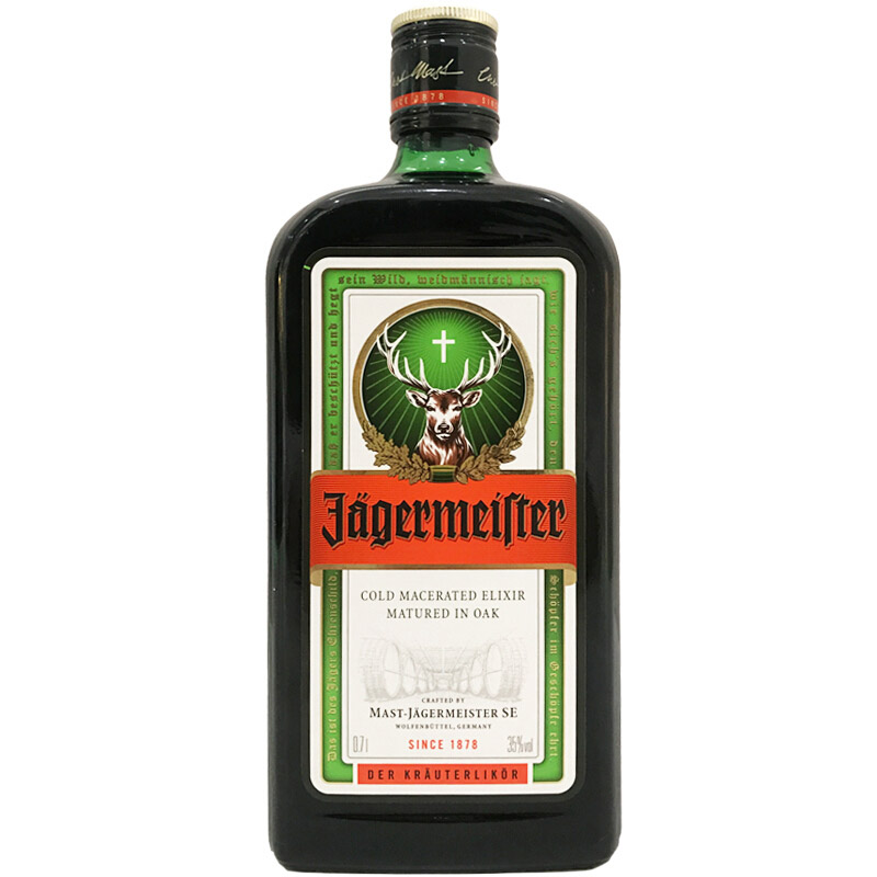 35°德国野格(Jagermeister)圣鹿利口力娇酒进口洋酒鸡尾酒基酒700ml