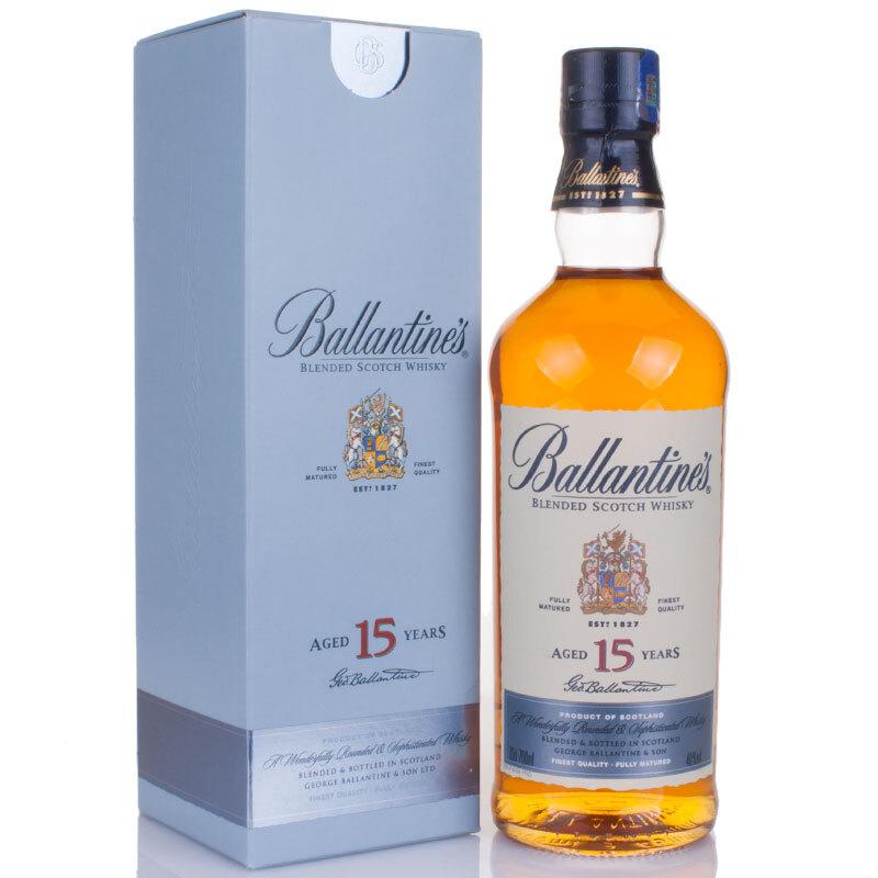 40°英国百龄坛(Ballantine's)15年苏格兰威士忌进口洋酒烈酒700ml