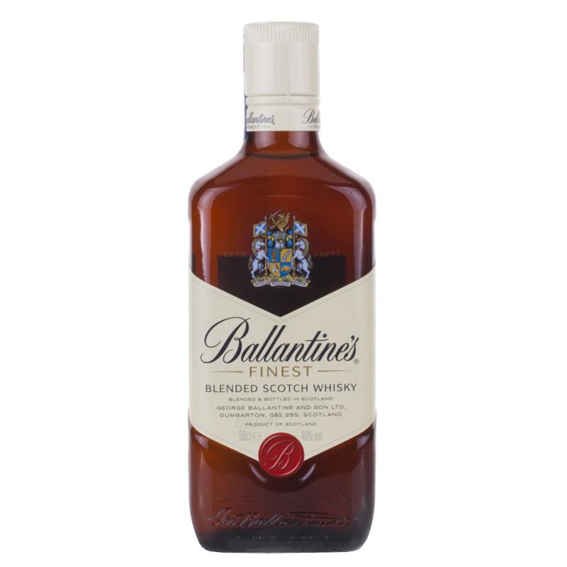 40°英国百龄坛(Ballantine's)特醇苏格兰威士忌进口洋酒烈酒500ml