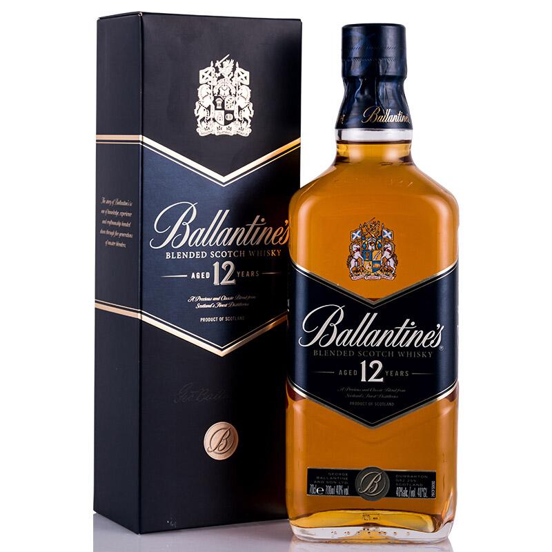 40°英国百龄坛(Ballantine's)12年苏格兰威士忌进口洋酒700ml