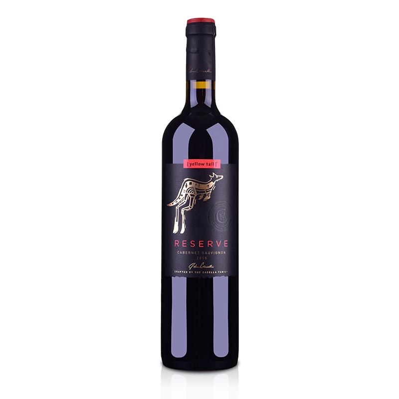 澳大利亚黄尾袋鼠签名版珍藏加本力苏维翁红葡萄酒750ml