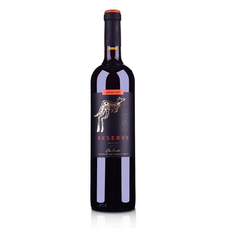 澳大利亚黄尾袋鼠签名版珍藏梅洛红葡萄酒750ml