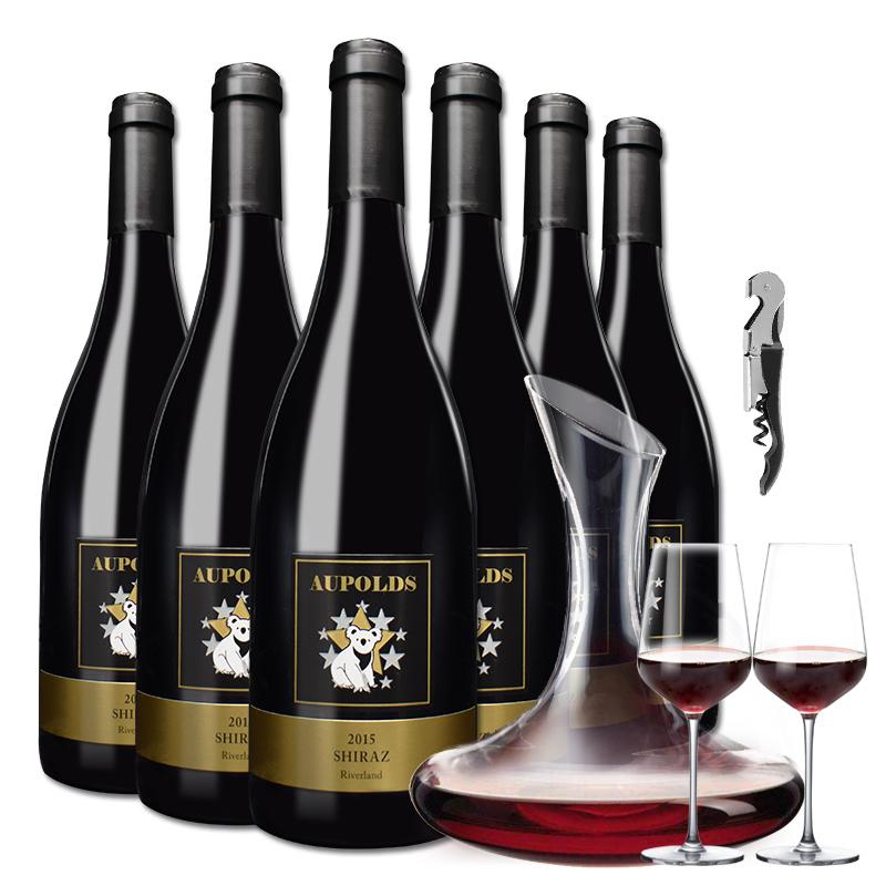 澳洲红酒整箱原瓶进口西拉干红葡萄酒6支装高度红酒澳大利亚澳畔