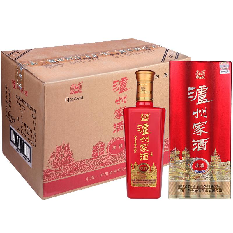 42°泸州老窖泸州家酒淡雅500ml(6瓶装)