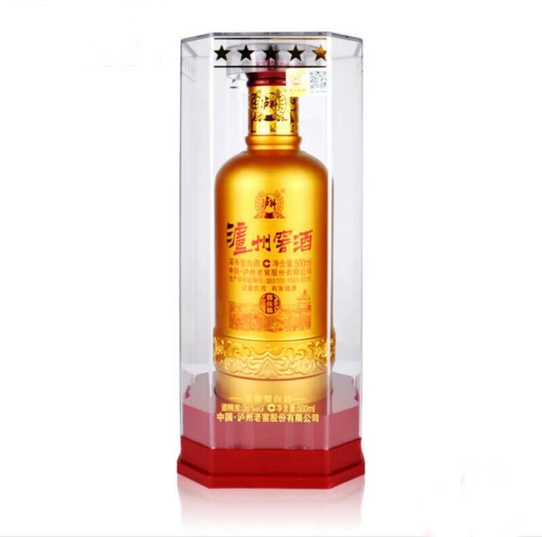 泸州老窖 窖酒喜庆装 38度浓香型白酒 金色500ml 单瓶装