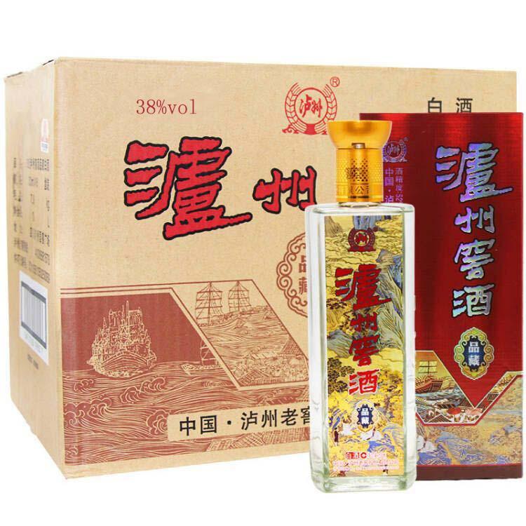 38度泸州窖酒品藏白酒 500ml*6 整箱装