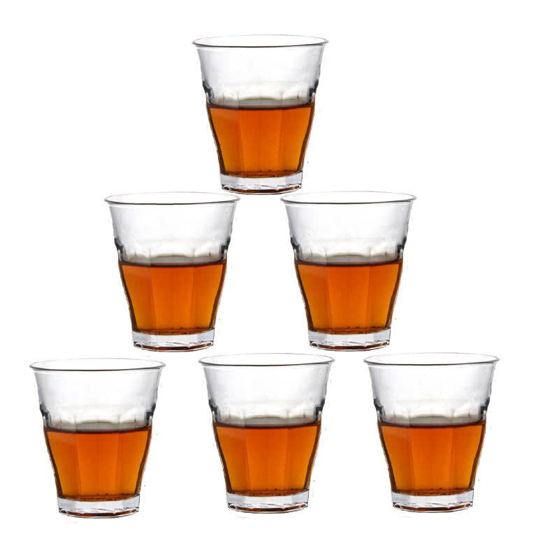 钢化玻璃小羽觞 玻璃酒具 酒吧ktv玻璃杯套装啤羽觞白
