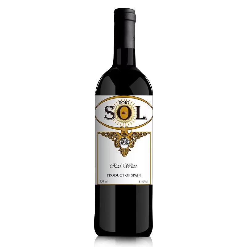 西班牙原装原瓶进口红酒 旭日之吻干红葡萄酒 750ml