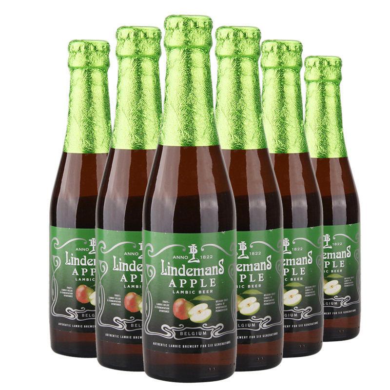比利时进口啤酒林德曼苹果味啤酒250ml(6瓶装)