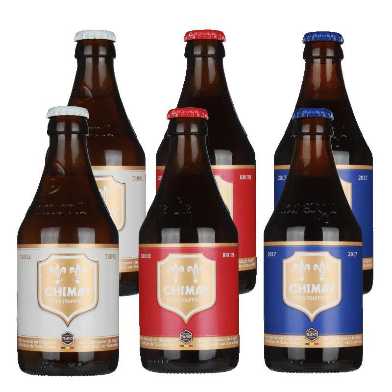比利时进口啤酒智美白帽红帽蓝帽啤酒组合330ml(6瓶装)