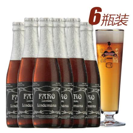 比利时进口啤酒林德曼法柔果味啤酒250ml(6瓶装)