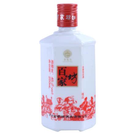 【歌德老酒特卖】45°百家坊(精品乳玻瓶)250ml(2006-2007年)老酒