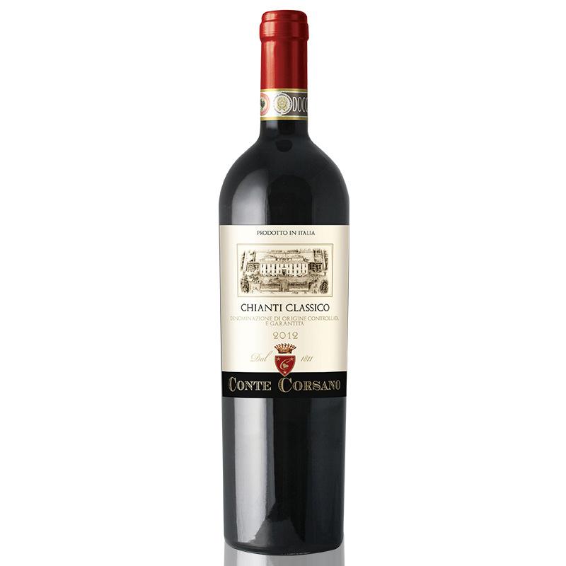 意大利(原瓶进口)DOCG红酒 康特卡萨诺古典基安蒂干红葡萄酒750ml单支装