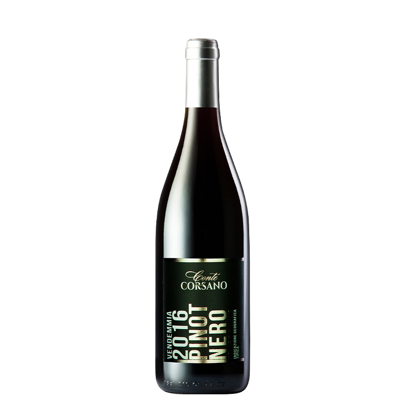意大利(原瓶进口)红酒 康特卡萨诺黑皮诺干红葡萄酒750ml单支装(买5发整箱6瓶)