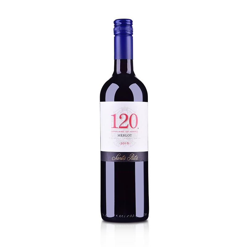 智利桑塔丽塔120梅洛干红葡萄酒750ml