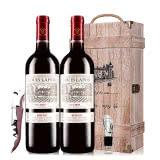 【红酒特卖】路易拉菲2009男爵古堡干红葡萄酒红酒礼盒木盒装 750ml*2