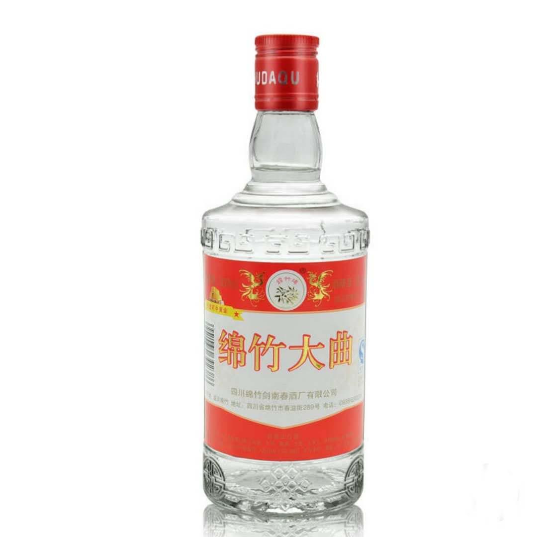 剑南春酒厂 绵竹大曲红标 100ml 52度白酒 单瓶装