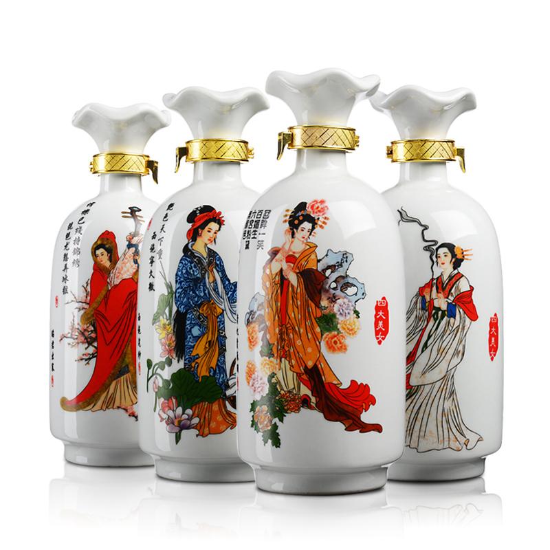 52°白水杜康蓝韵国宴(四大美人)升级版1000ml*4瓶(2014年)