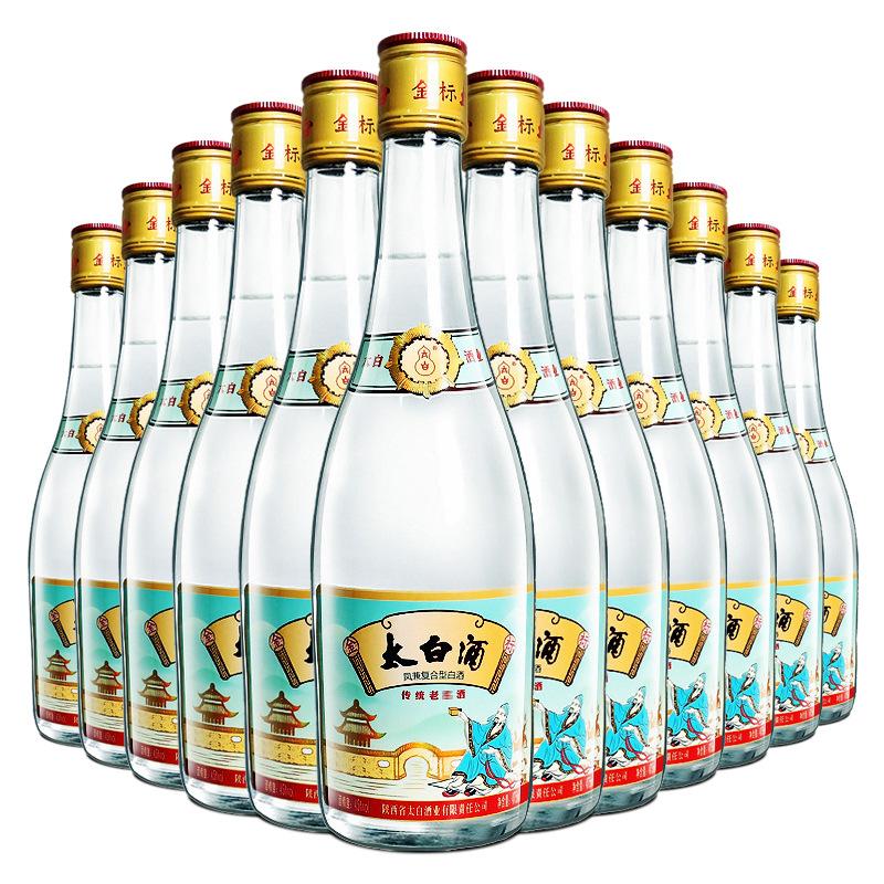 【老酒特卖】45°金标太白酒475ml(12瓶装)(2015年)