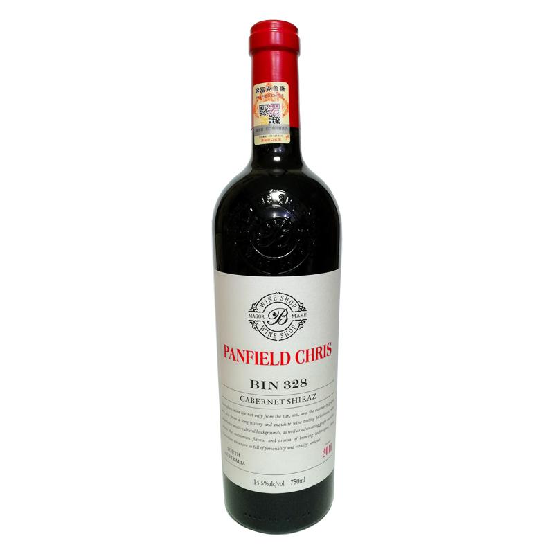 奔富克鲁斯BIN328赤霞珠西拉子干红葡萄酒单支装(750ml)