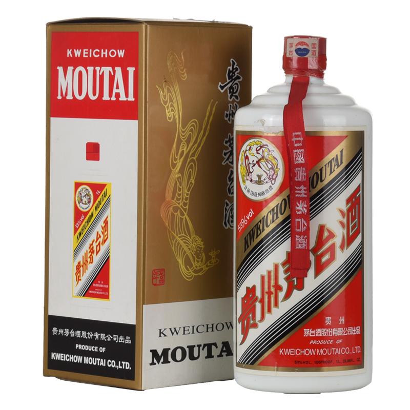 53°贵州茅台酒公斤茅台飞天(2007年) 1000ml老酒收藏酒