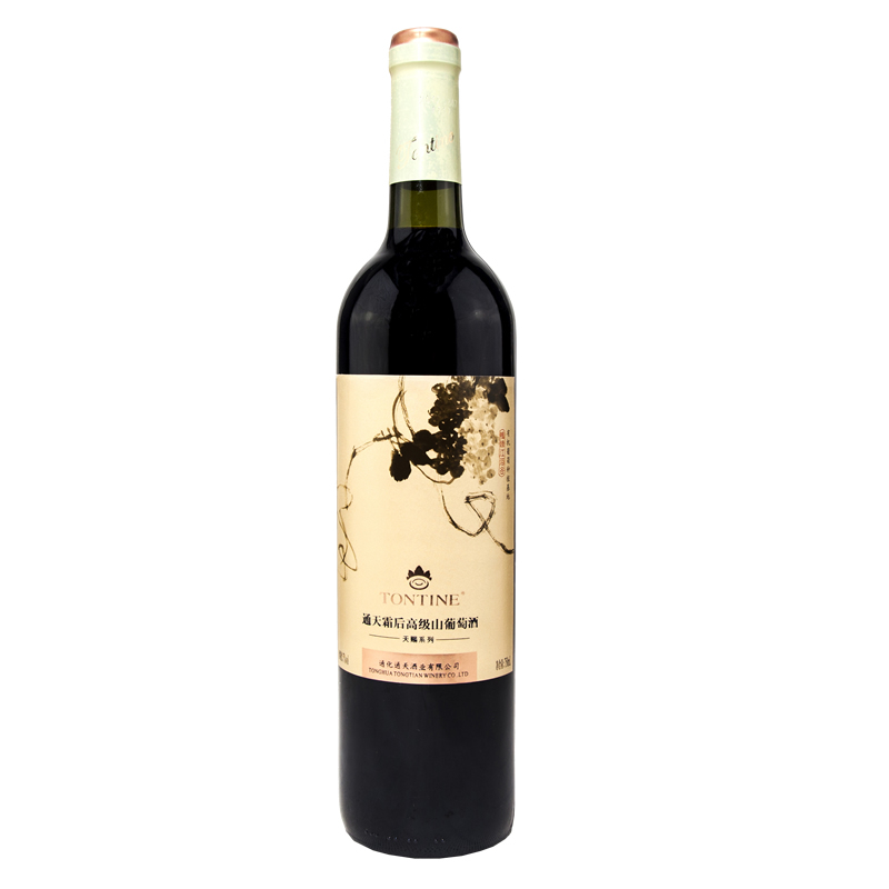 通天葡萄酒通天霜后高级山葡萄酒女士甜红酒750ml