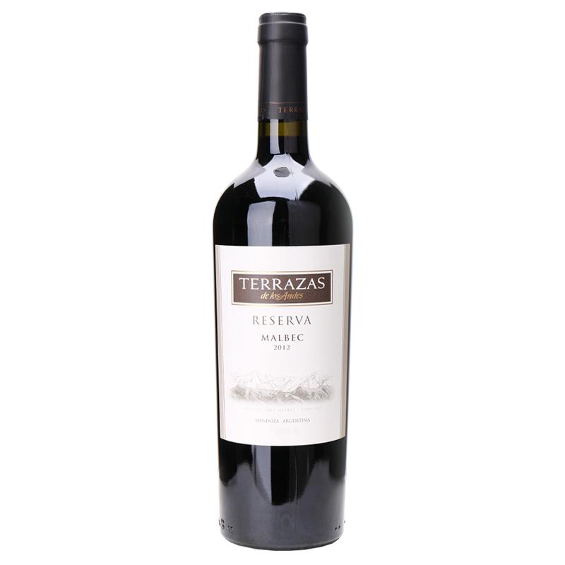 14.5°台阶(TERRAZAS)安第斯山脉典藏马尔白克红葡萄酒750ml