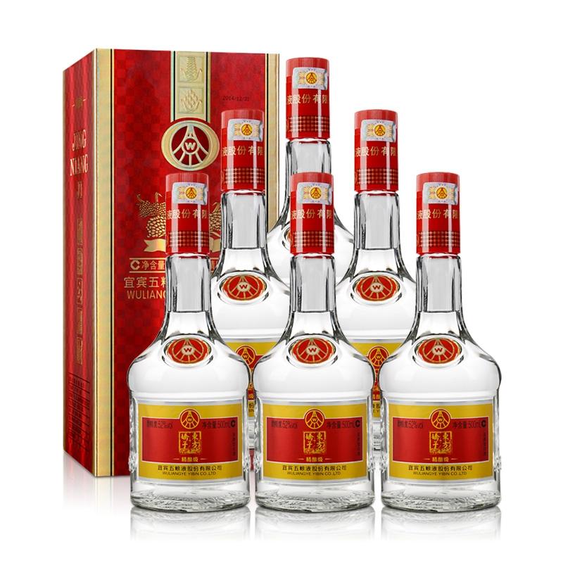 52°宜宾五粮液股份东方娇子精酿级口粮酒500ml(6瓶装)