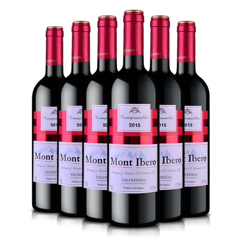 西班牙原瓶进口红酒(DO级) 伊比利亚山干红葡萄酒750ml* 6整箱装