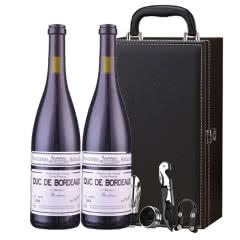 法国白马康帝·波尔多男爵干红葡萄酒 红酒礼盒装 750ml*2