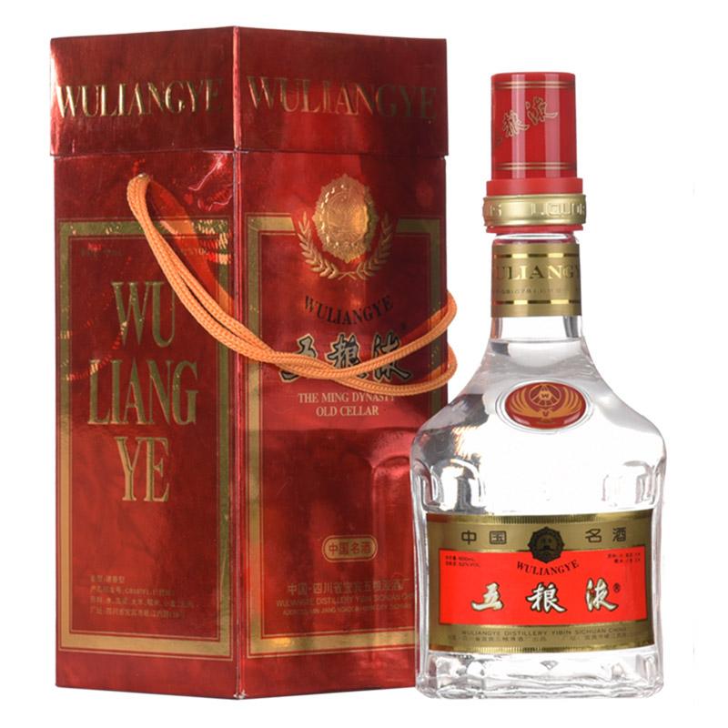 【老酒收藏酒】52°五粮液(红盒金圈)500ml(1997年)
