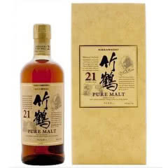 43°竹鹤21年单一麦芽威士忌700ml