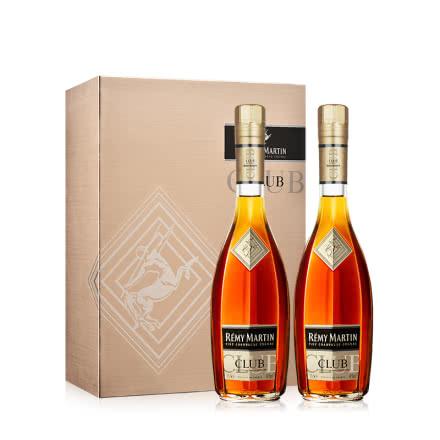 【礼盒】40°人头马RemyMartin CLUB优质香槟区干邑白兰地双支礼盒(350ml*2)