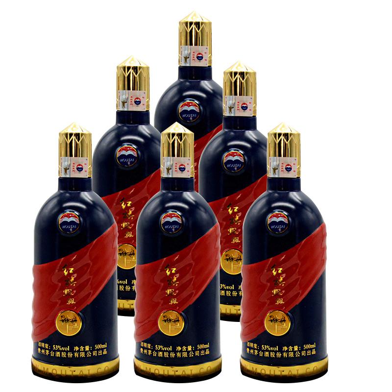 53°贵州茅台 神州 红旗飘飘500ml*6瓶(2013年)