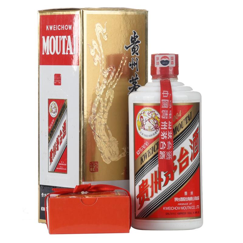53°贵州茅台酒飞天/五星(2004年)500ml老酒收藏酒