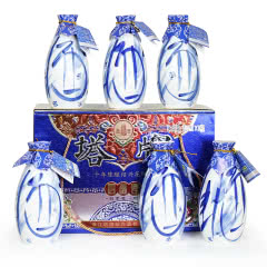 绍兴黄酒塔牌十年陈绍兴花雕酒整箱礼盒500mlx6瓶装 糯米老酒月子酒