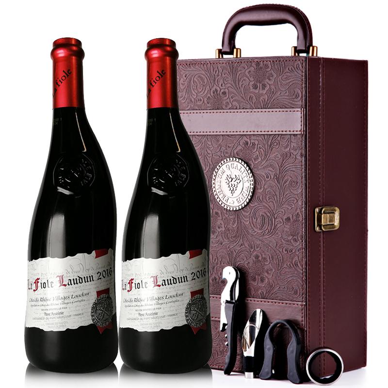 法国原瓶进口红酒教皇新堡芙华罗顿AOC级干红葡萄酒红酒礼盒装750ml*2