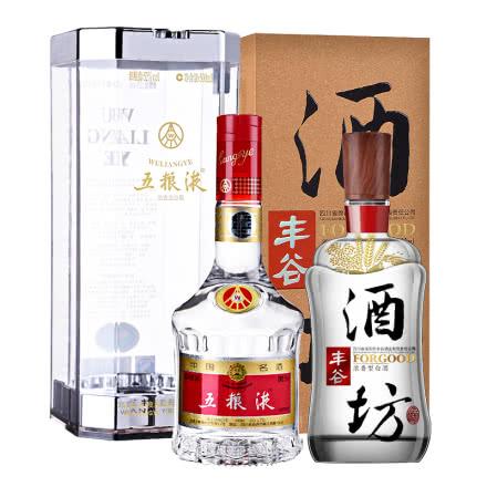【礼盒】52°五粮液500ml+48°丰谷酒坊500ml